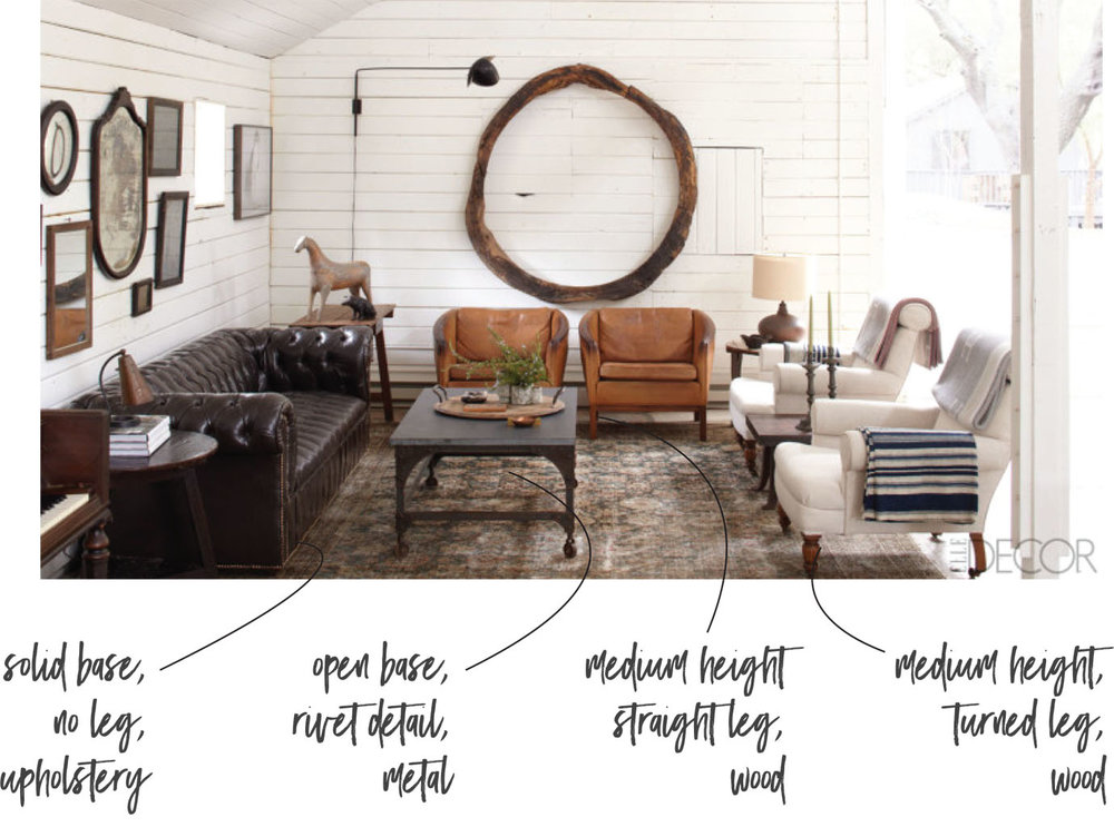 Akin Design Studio Blog | How To: Pairing Furniture - The Legs Matter