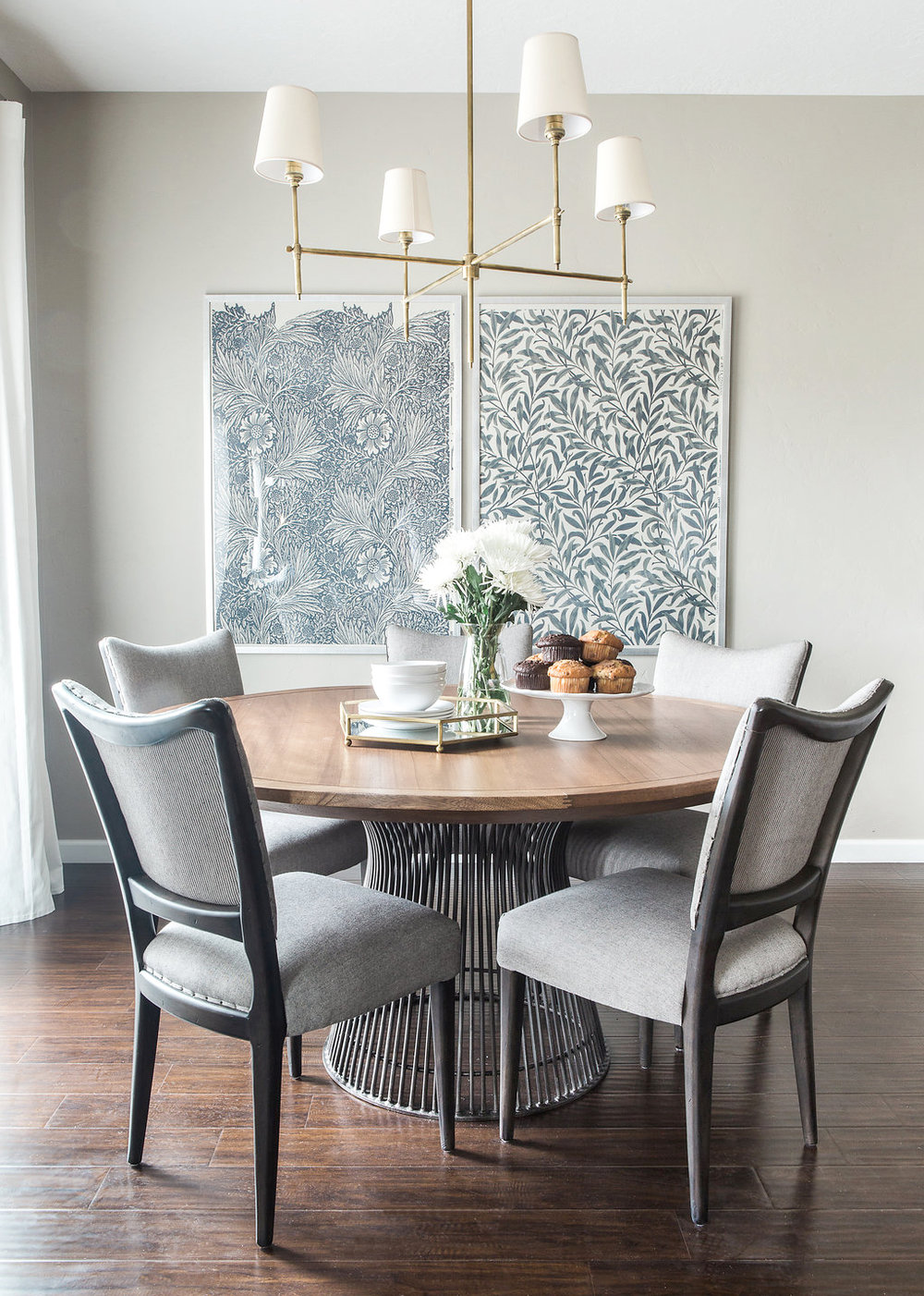 Transitional Dining Room | Akin Design Studio