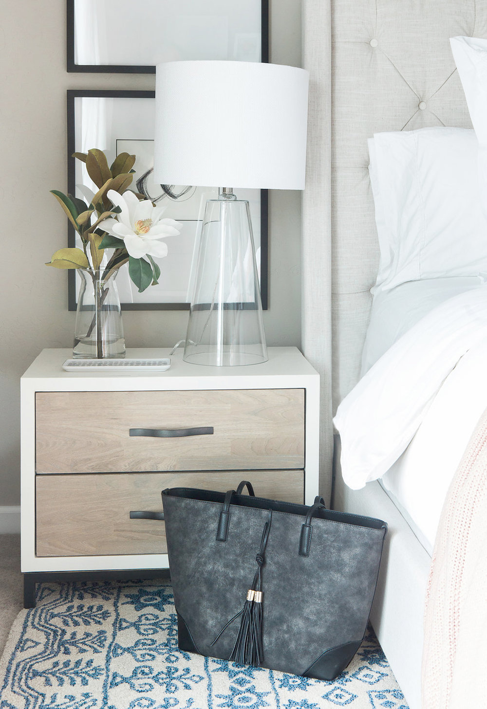 Transitional Bedroom Styling | Akin Design Studio