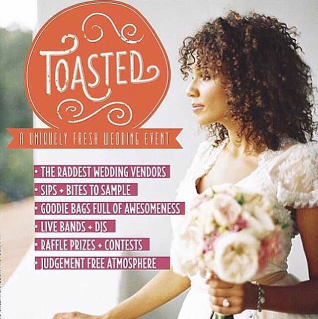 See you at Toasted tomorrow in Dumbo! 26 Bridge St. 6pm - 9pm ❤ Dearly Beloved enters the indie wedding scene in full force. Visit me and Dawn Mauberret Events @dawnmauberret at our booth. 💌💍🌹🌙💫🍾 @toastedweddingevent