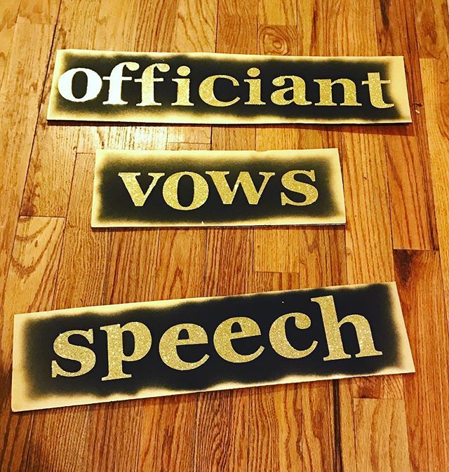My signage is ready for TOASTED tonight! Come on by and get a ring pop from me! Dobbin ST - 64 Dobbin Street 6pm - 9pm 💗 #dearlybelovednyc #weddingofficiant #lovetrumpshate