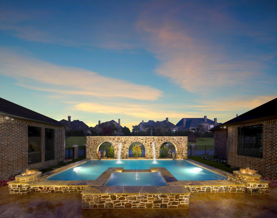 water-fountain-lighting-swimming-pool-fire-bowls-