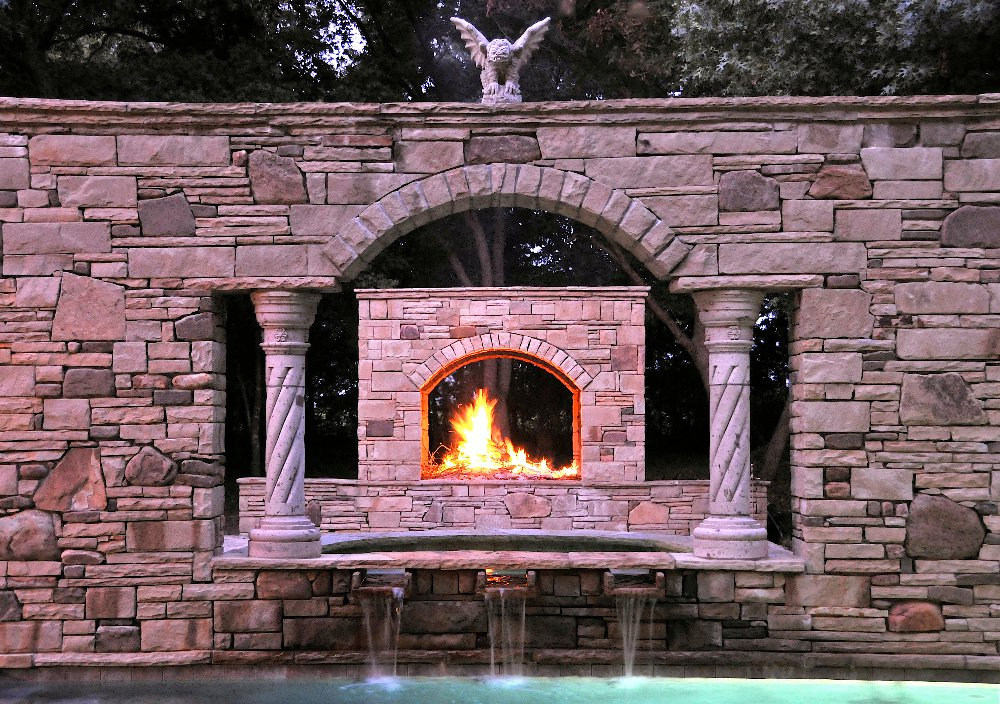 fireplace-decorative-columns-stone-facade