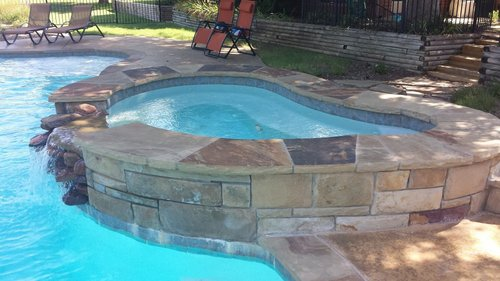 water features and fountains — natural stone pools