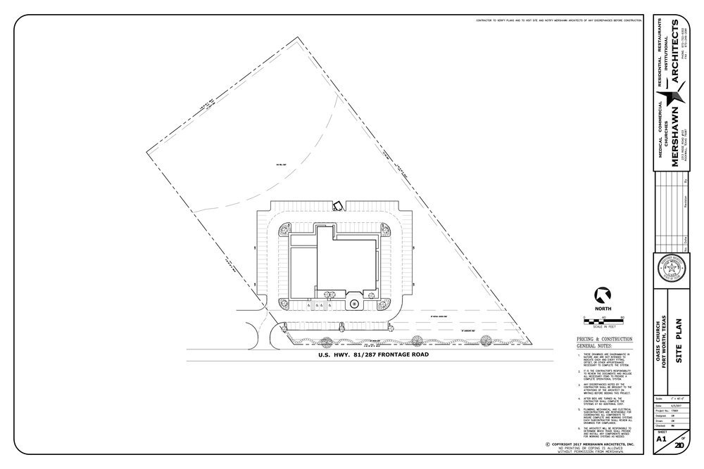View of the full property and site plan.