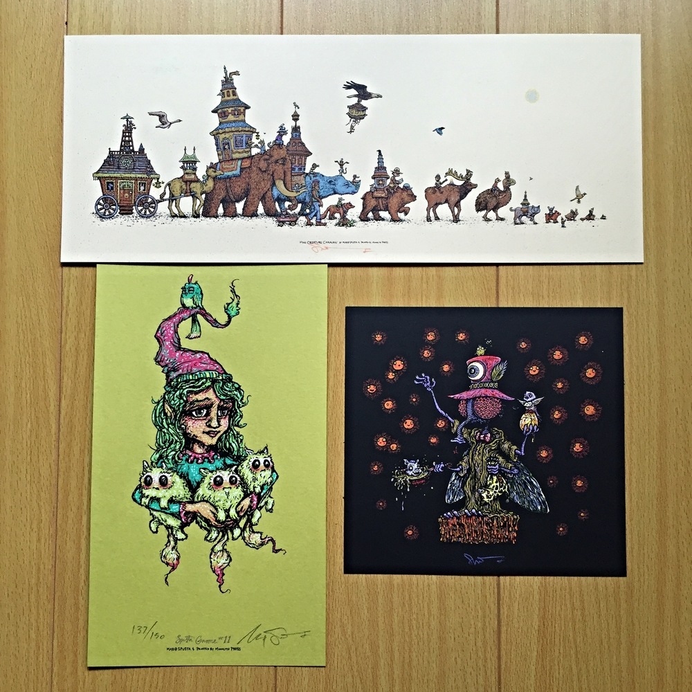 "Pack #3: Mini Creature Caravan 15"" x 6"", Tweek the Bug 7"" x 7"", & Gnome Main Edition"