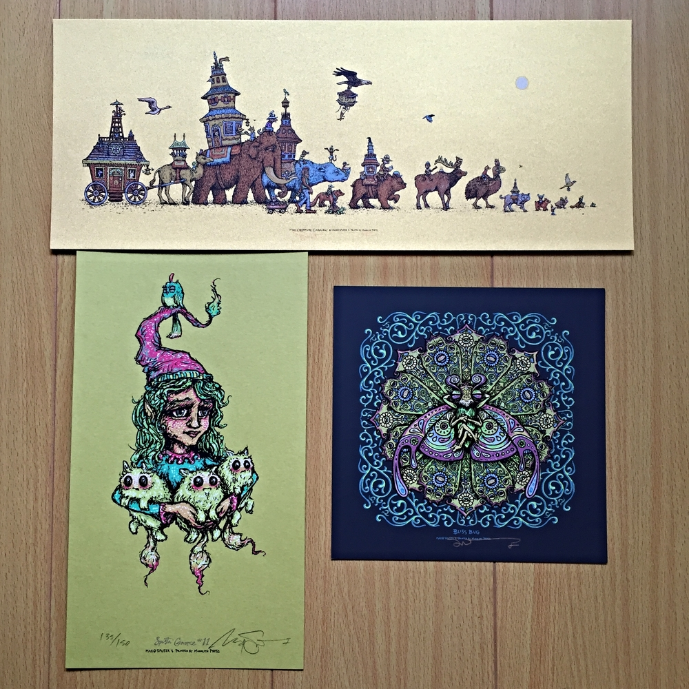 "Pack #4: Mini Creature Caravan 15"" x 6"", Bliss Bug 7"" x 7"", & Gnome Main Edition"