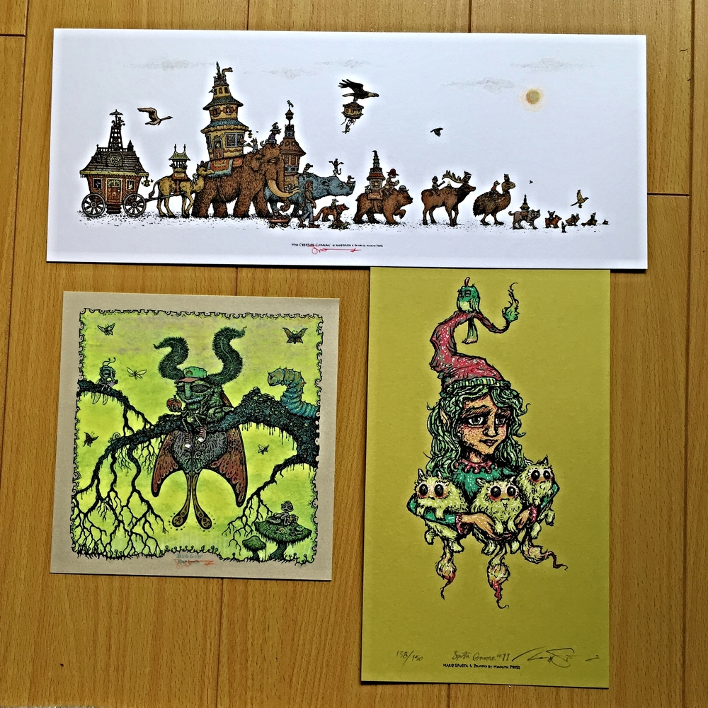 "Pack #1: Mini Creature Caravan 15"" x 6"", Buggin' 7"" x 7"", & Gnome Main Edition"