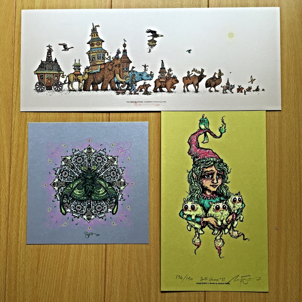 "Pack #2: Mini Creature Caravan 15"" x 6"", Bliss Bug 7"" x 7"", & Gnome Main Edition"