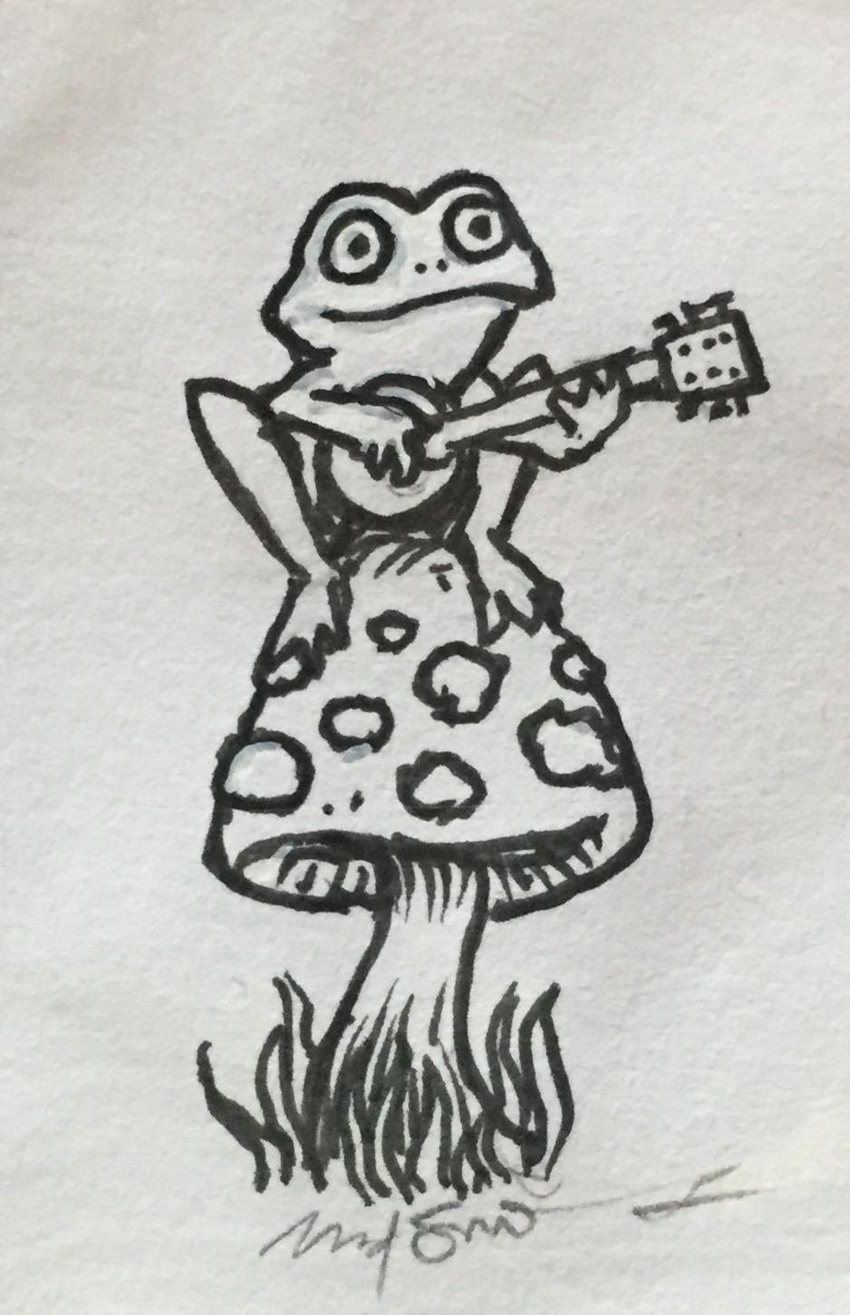 """Frog (1.5"""" x 2.5"""") $135"""