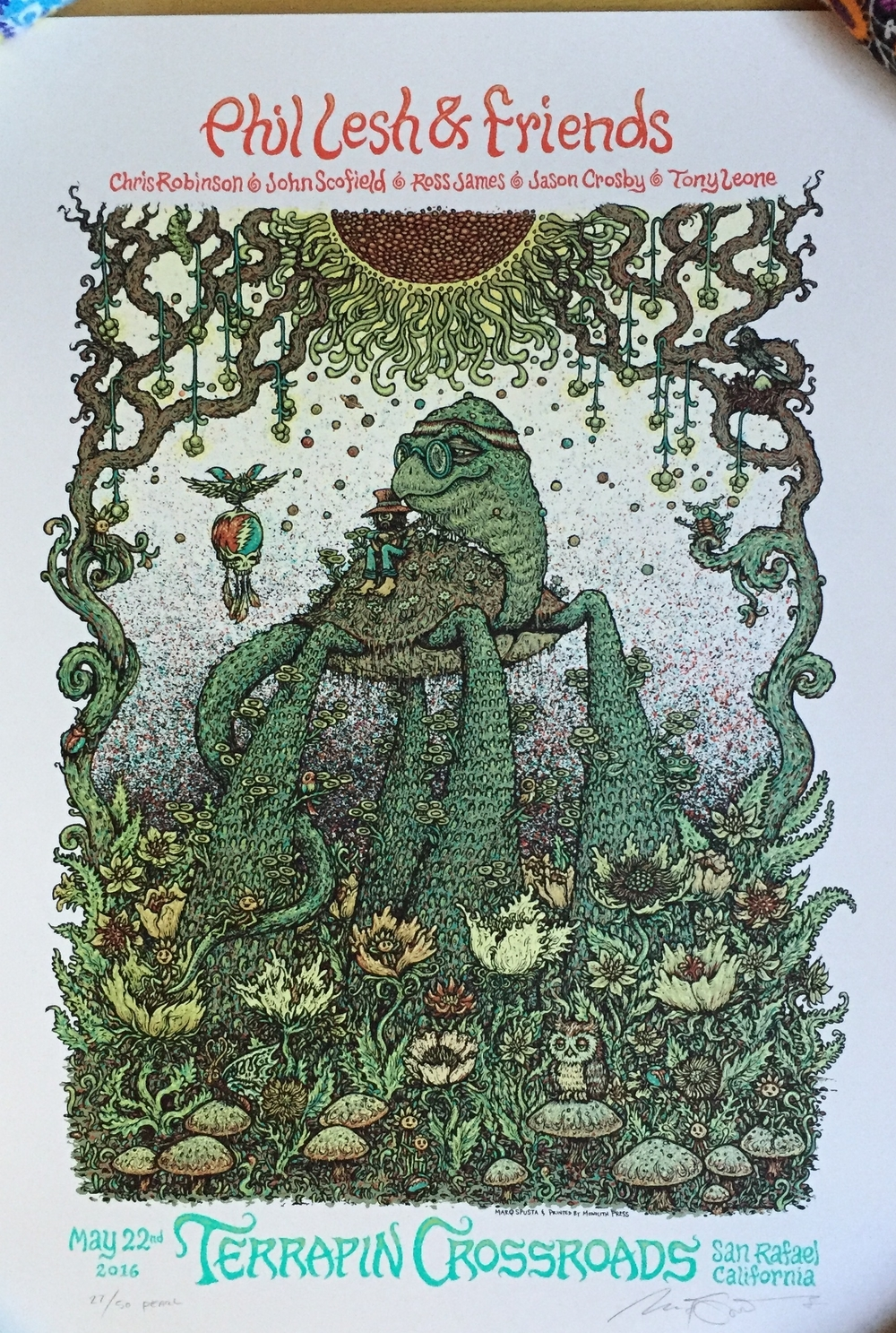 "Phil Lesh & Friends 15"" x 22"" on pearl"