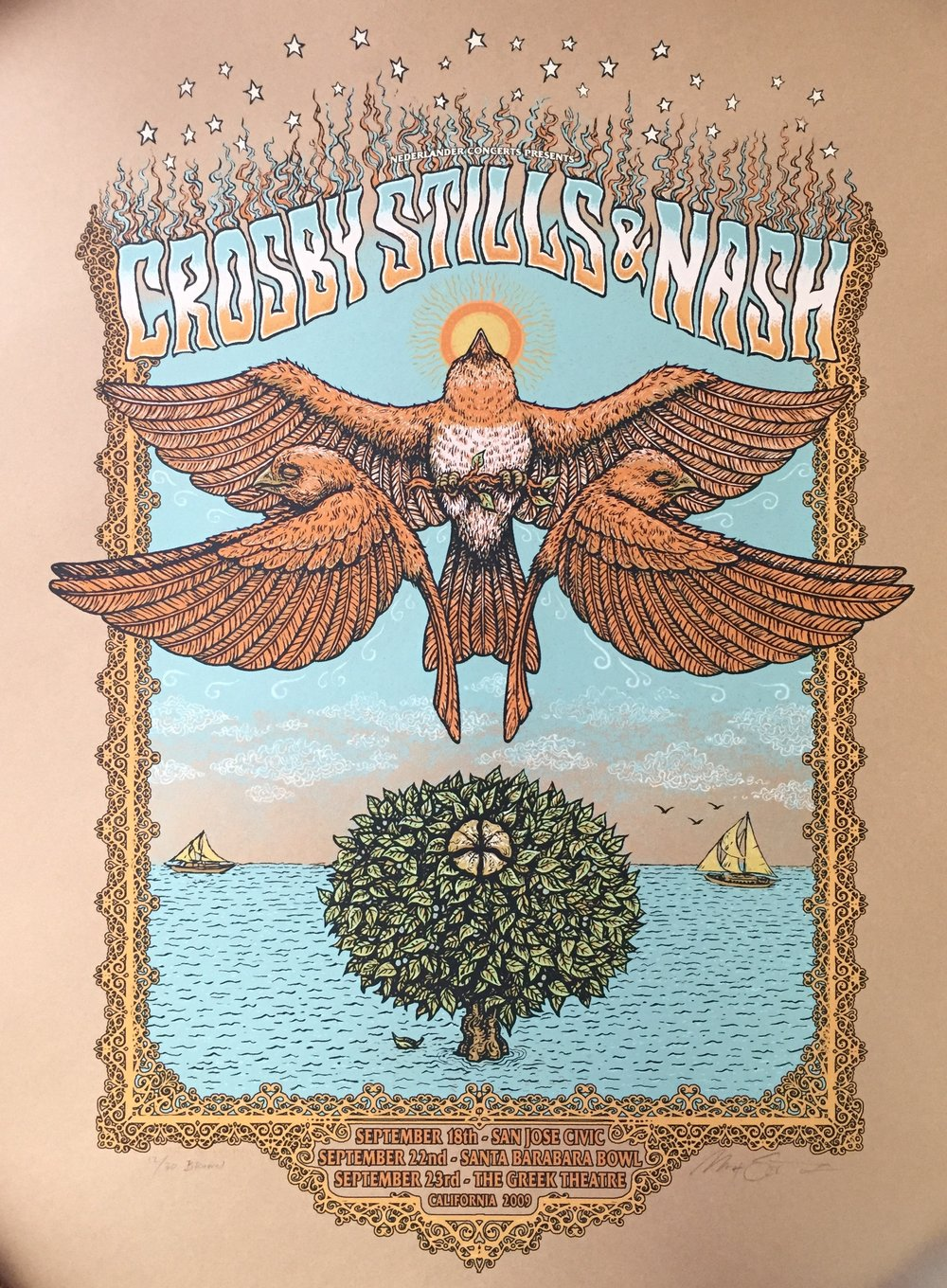 "Crosby Stills & Nash 2009 18"" x 24"""