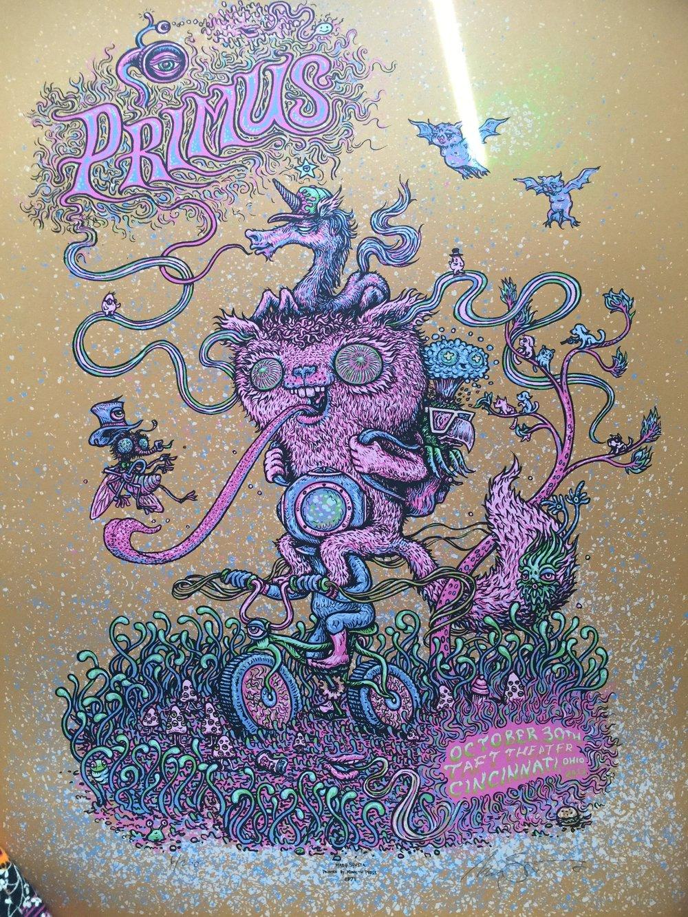 """Primus Cincinnati 2012 18"""" x 24"""""""
