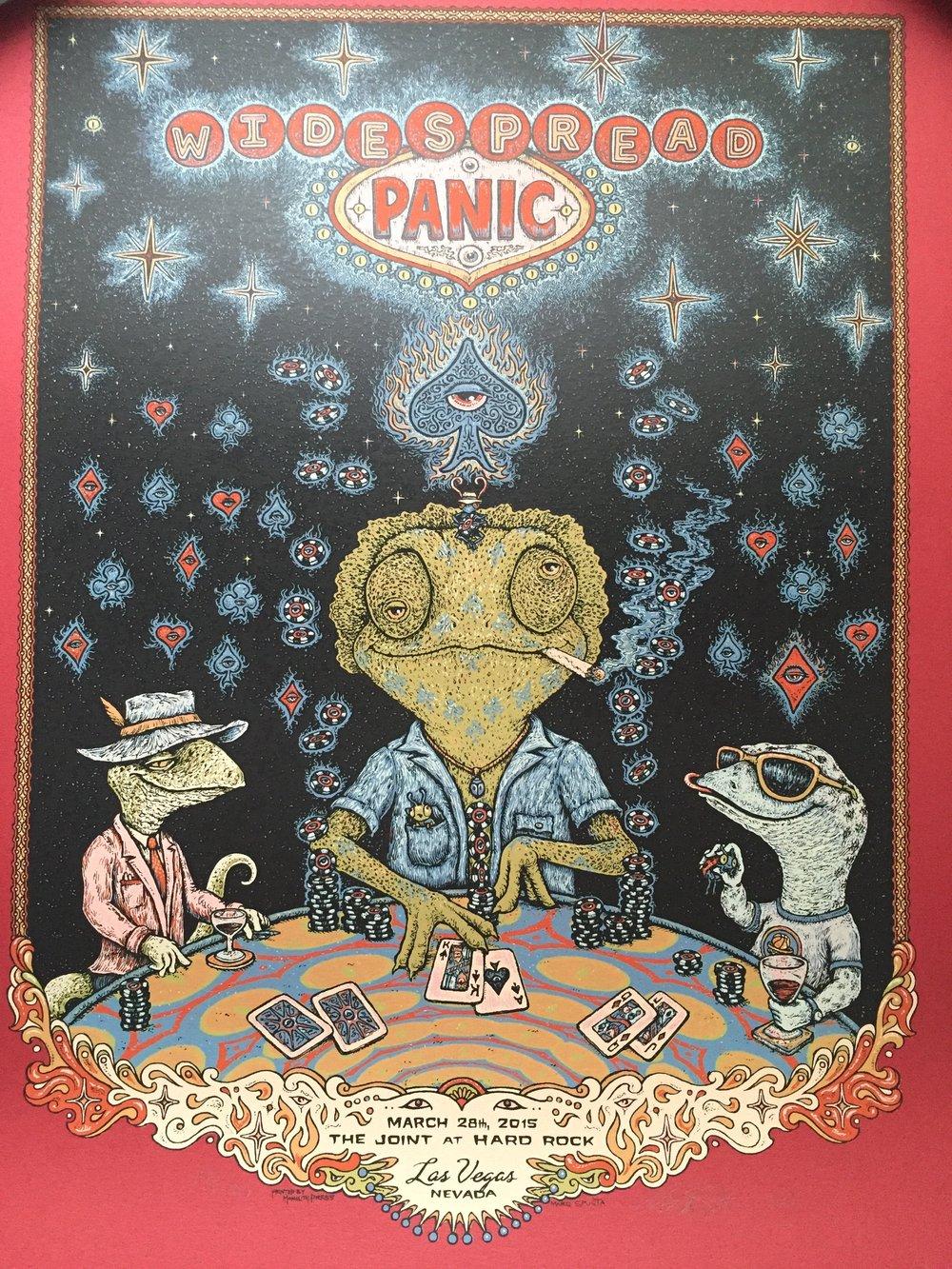 "Widespread Panic 2015 Las Vegas Poster 18"" X 23.75"""