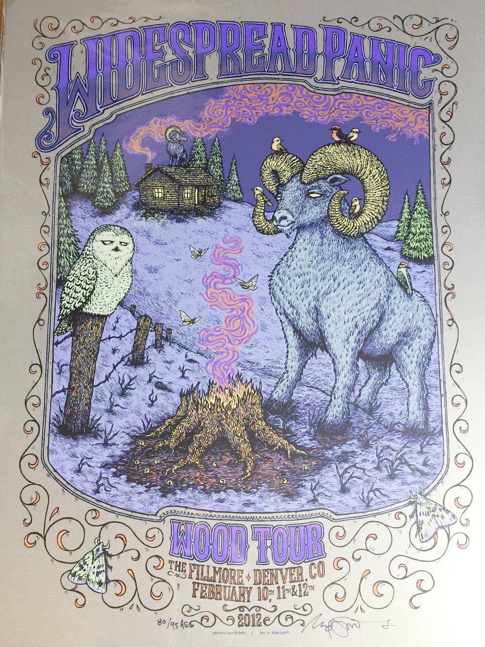 "Widespread Panic Denver 2012 18"" x 24"" run of 95 Artist Edition"