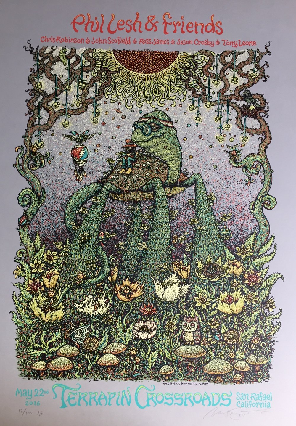 "Phil Lesh Poster on Gray run of 100 15"" x 22"""
