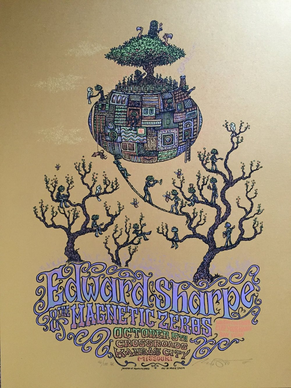 "Edward Sharpe 2012 18"" x 24"" run of 100"
