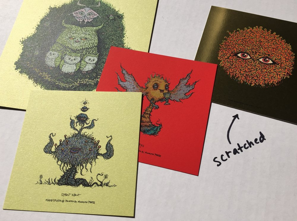 Pack 9 (4 prints note slight scratches)
