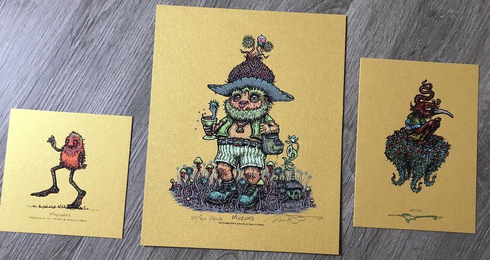 "$125 Gold Variant Muzums 8"" x 10"" Pack + Minis"