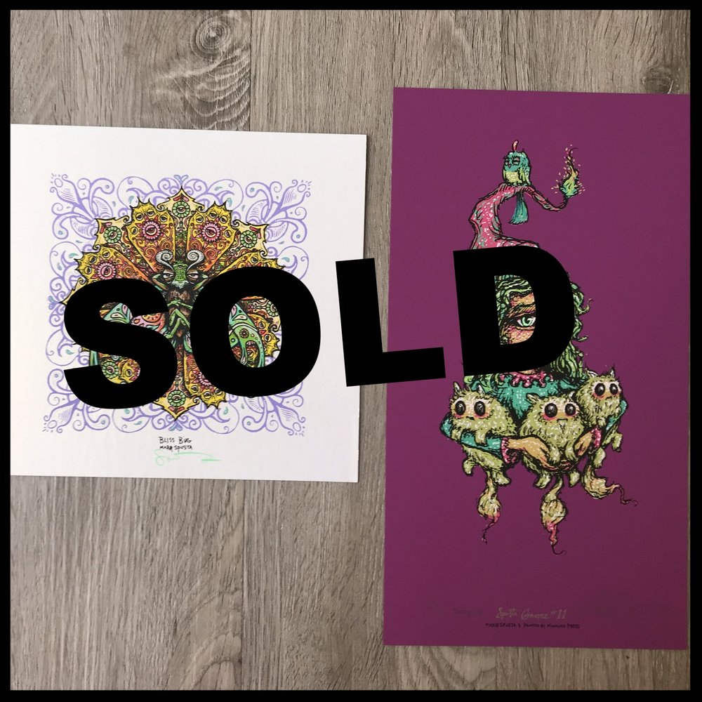 "$160 - PACK H - Full Size Gnome 11 lightly embellished 6"" x 11"" + Bliss Bug 7"" x 7"""