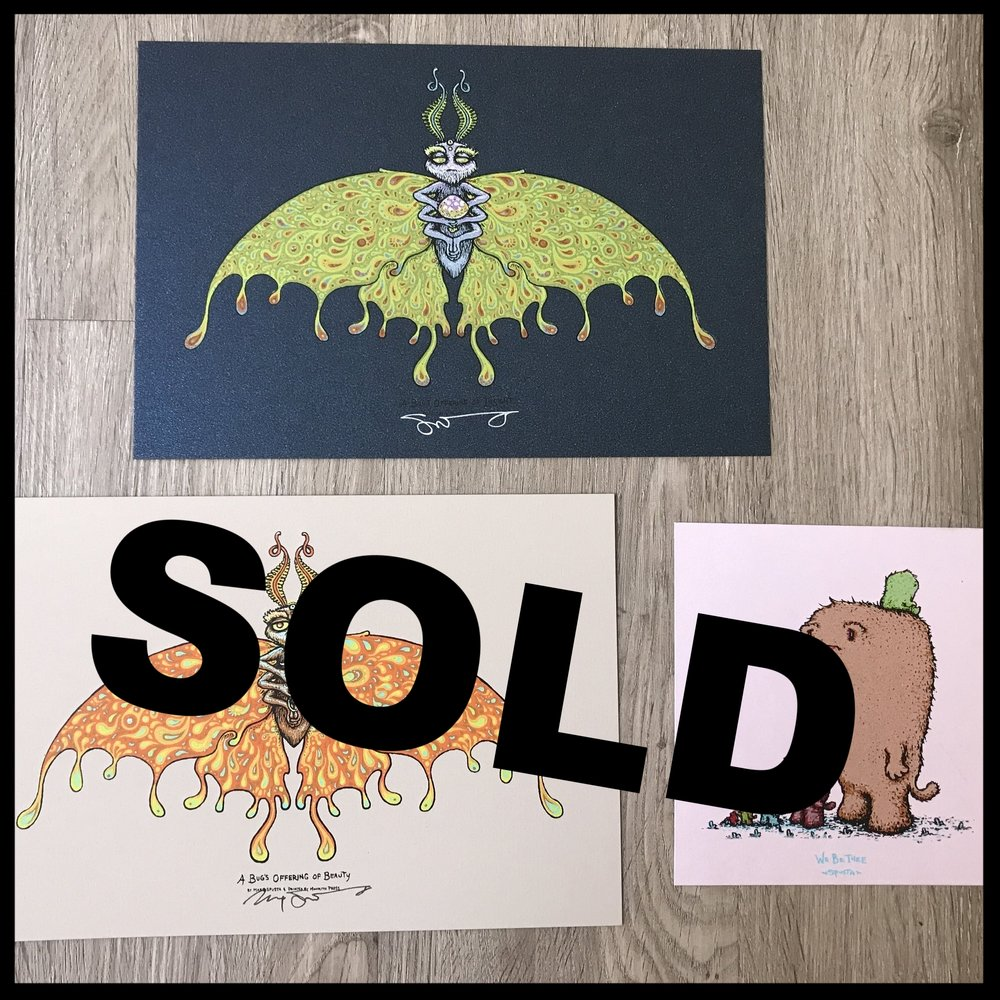 "$90 - PACK A - A Bug's Offering Set of 2, size 6"" x 9"" + We Be Thee 5"" x 5"""