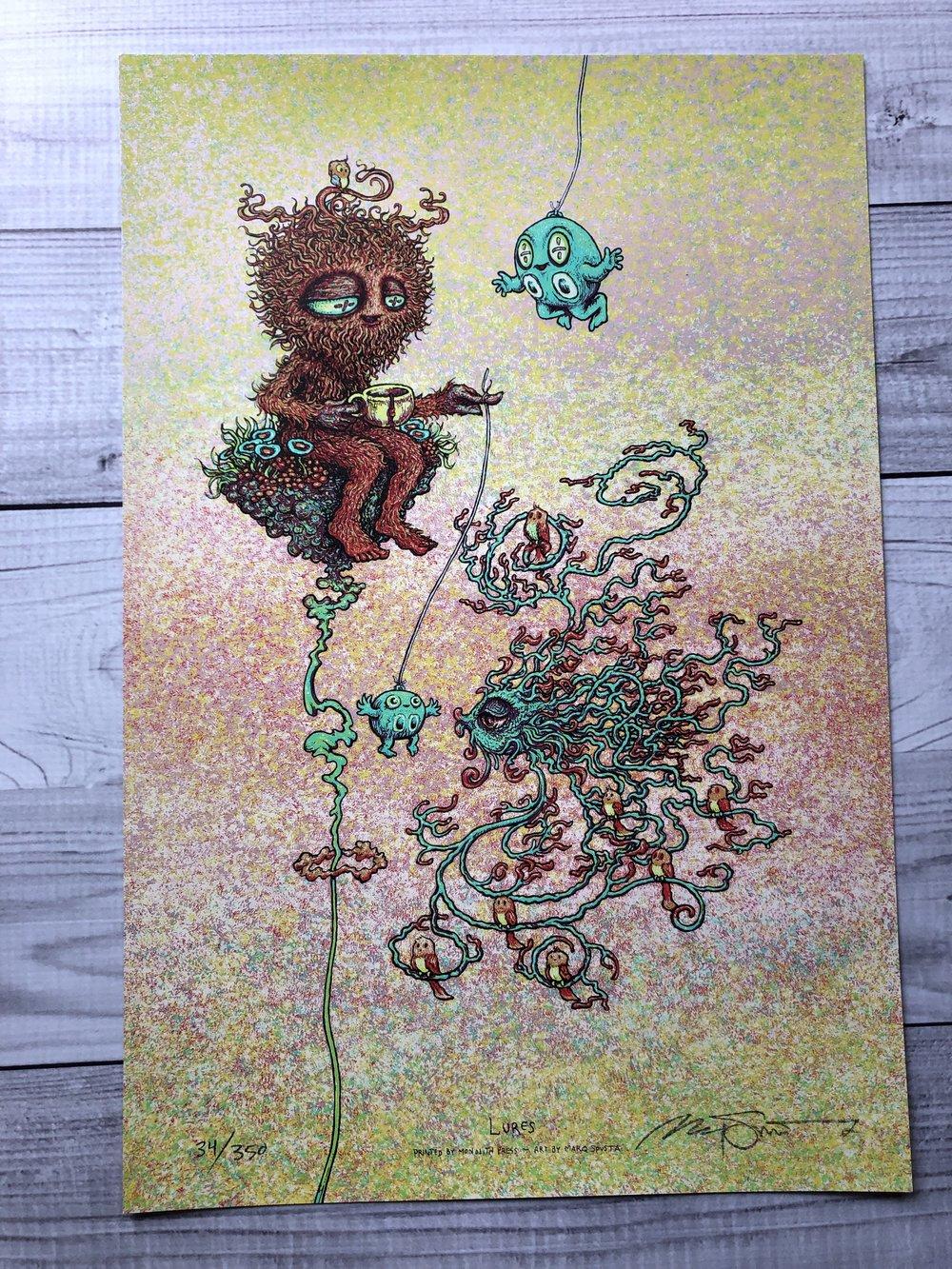 $170 Main Ed Lures + 2 Mystery Mini Prints