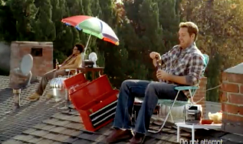 Bud Light Helps With Chores Around The House For This Super Bowl XL  Commercial.
