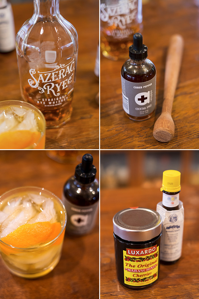 Old Fashioned cocktail with Addition Cubeb Pepper Cocktail Spice