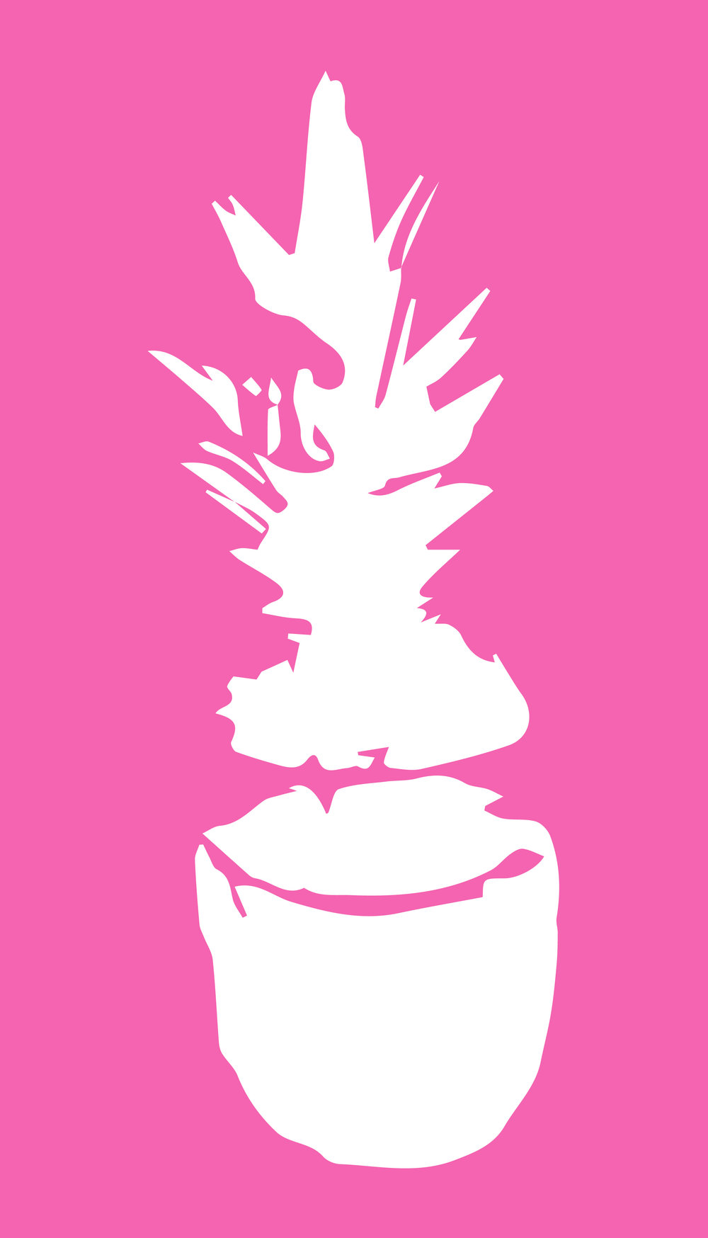 Pink Pineapple Phone Wallpaper