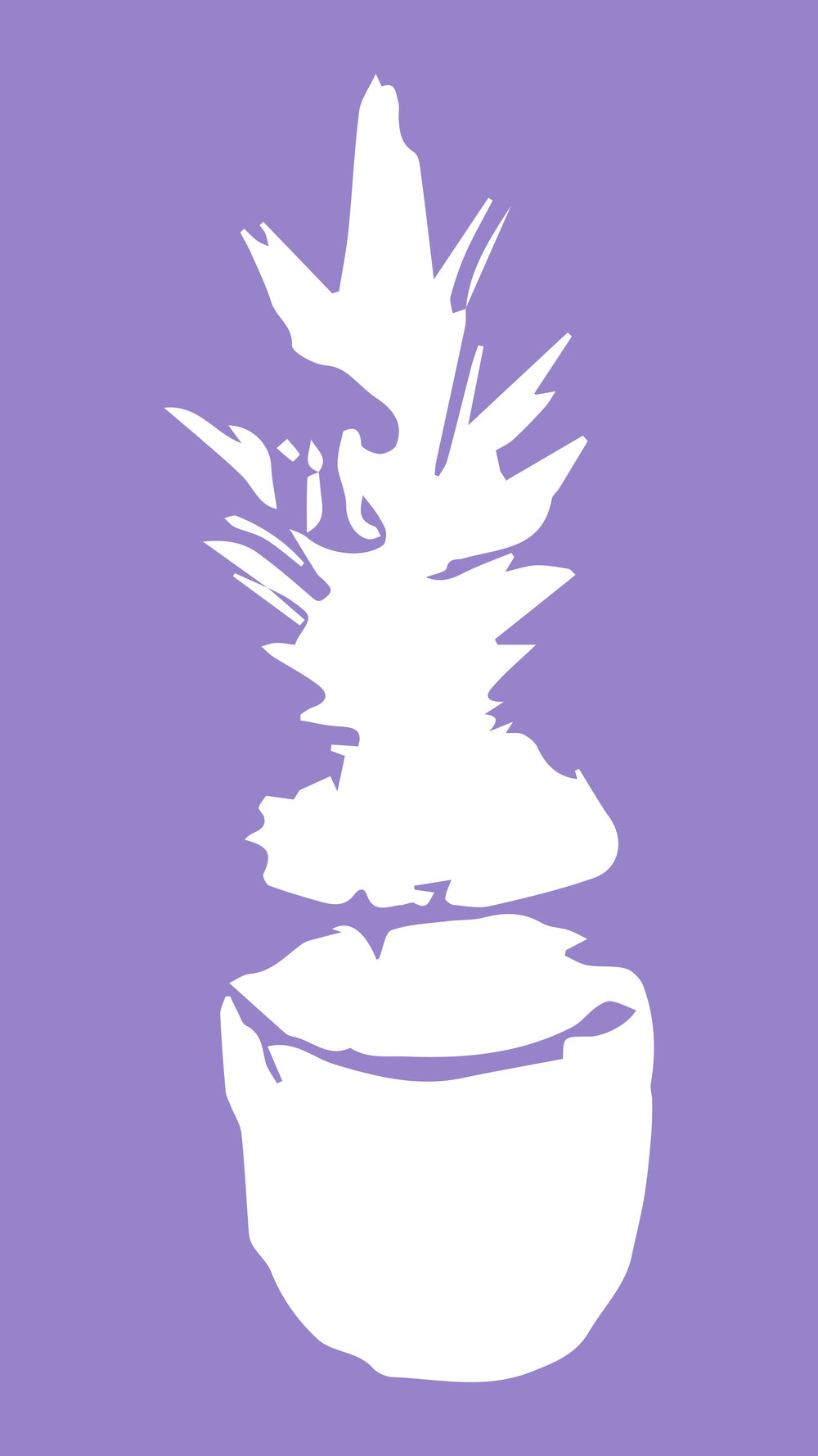 Purple Pineapple Phone Wallpaper