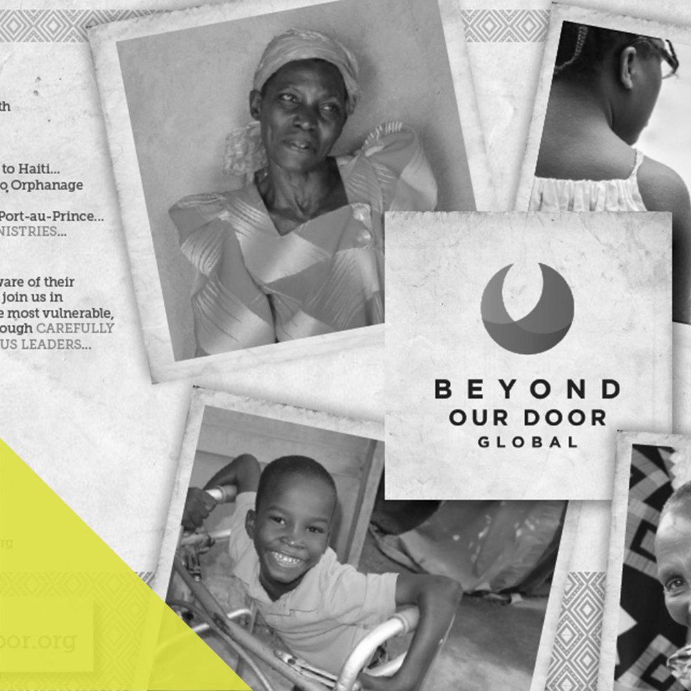 BEYOND OUR DOOR - print design