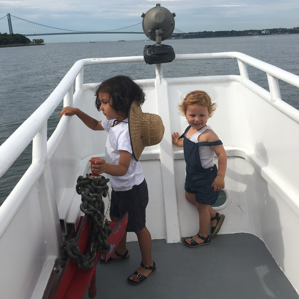 The ferry is a fun ride for the kids and adults. Drinks and snacks are available on board and the deck is a perfect place to see unexpected views of familiar sites - Staten Island Bridge, Statue of Liberty, Coney Island, to name a few.