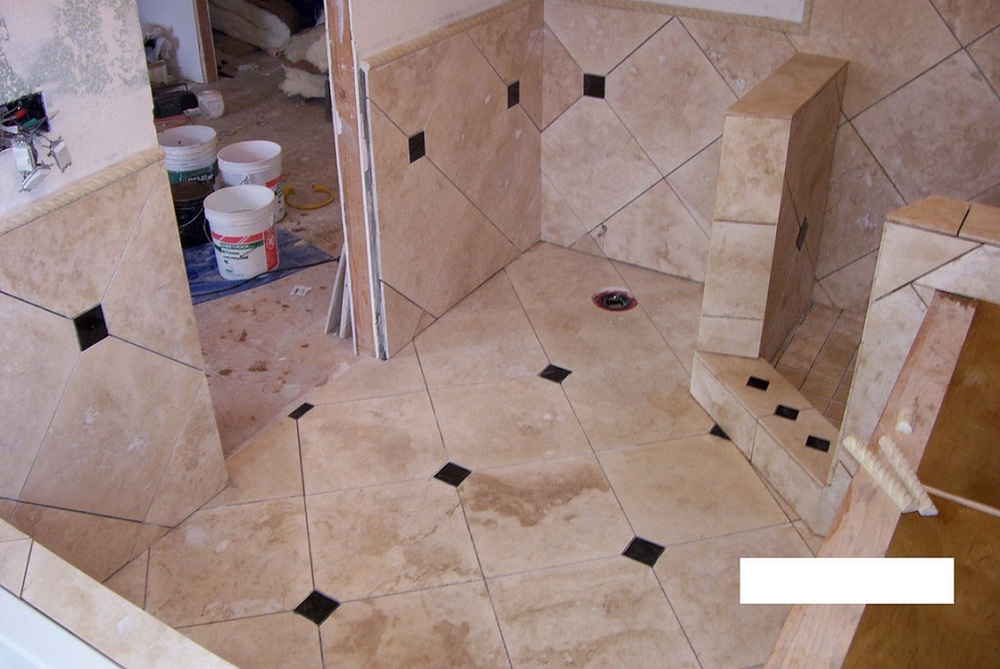 Custom Pattern of Floor, Walls and Shower.JPG