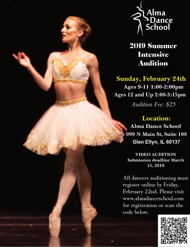 Alma Dance School 2019 Summer Intensive Audition — Alma Dance school