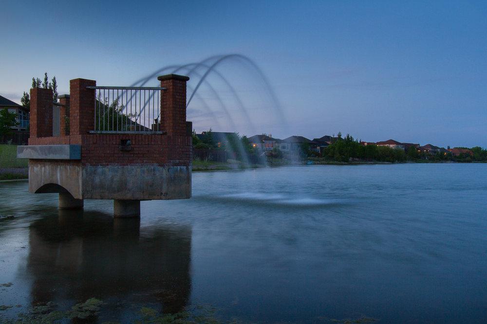 Fountain in Linden Woods