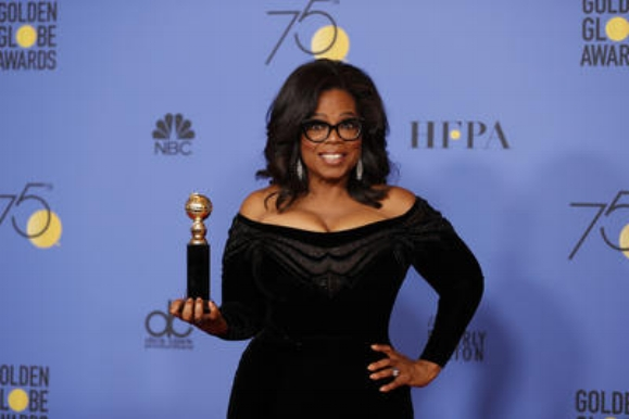 Oprah and her Golden Gobe