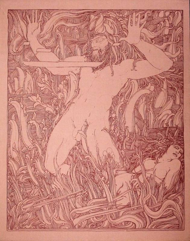 Samson by Ernst Fuchs sharded by William Floyd