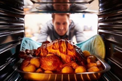 Man Roasting Turkey