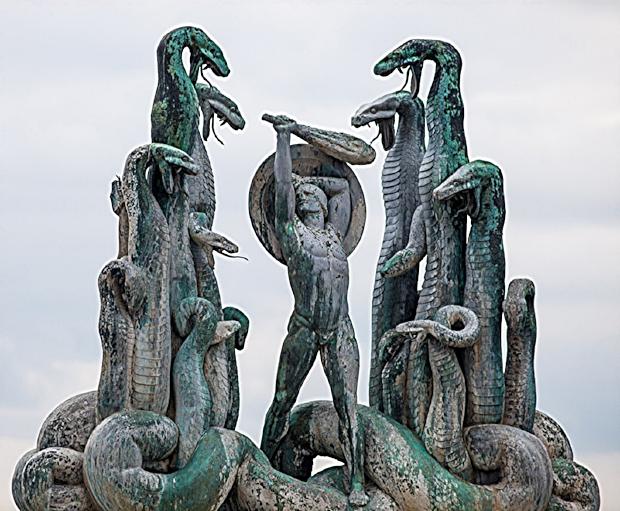 Heracles battling the Lernaean Hydra, Rudolph Tegner.jpg