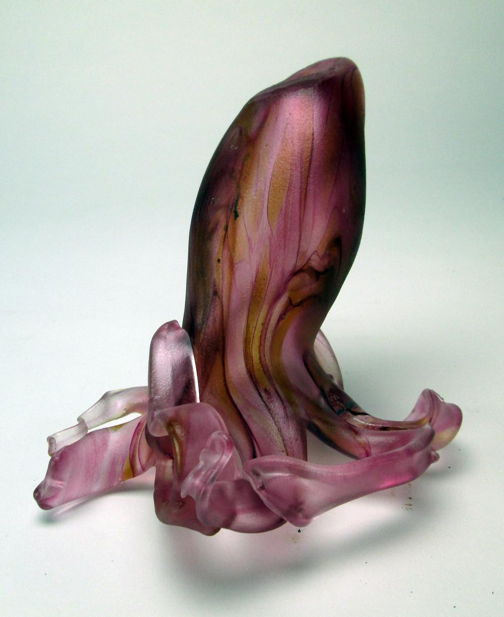 Blown glass pink squid