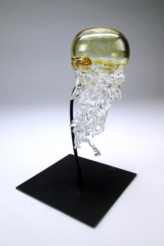 Blown glass jellyfish, 2017 Niche Award Student FInalist