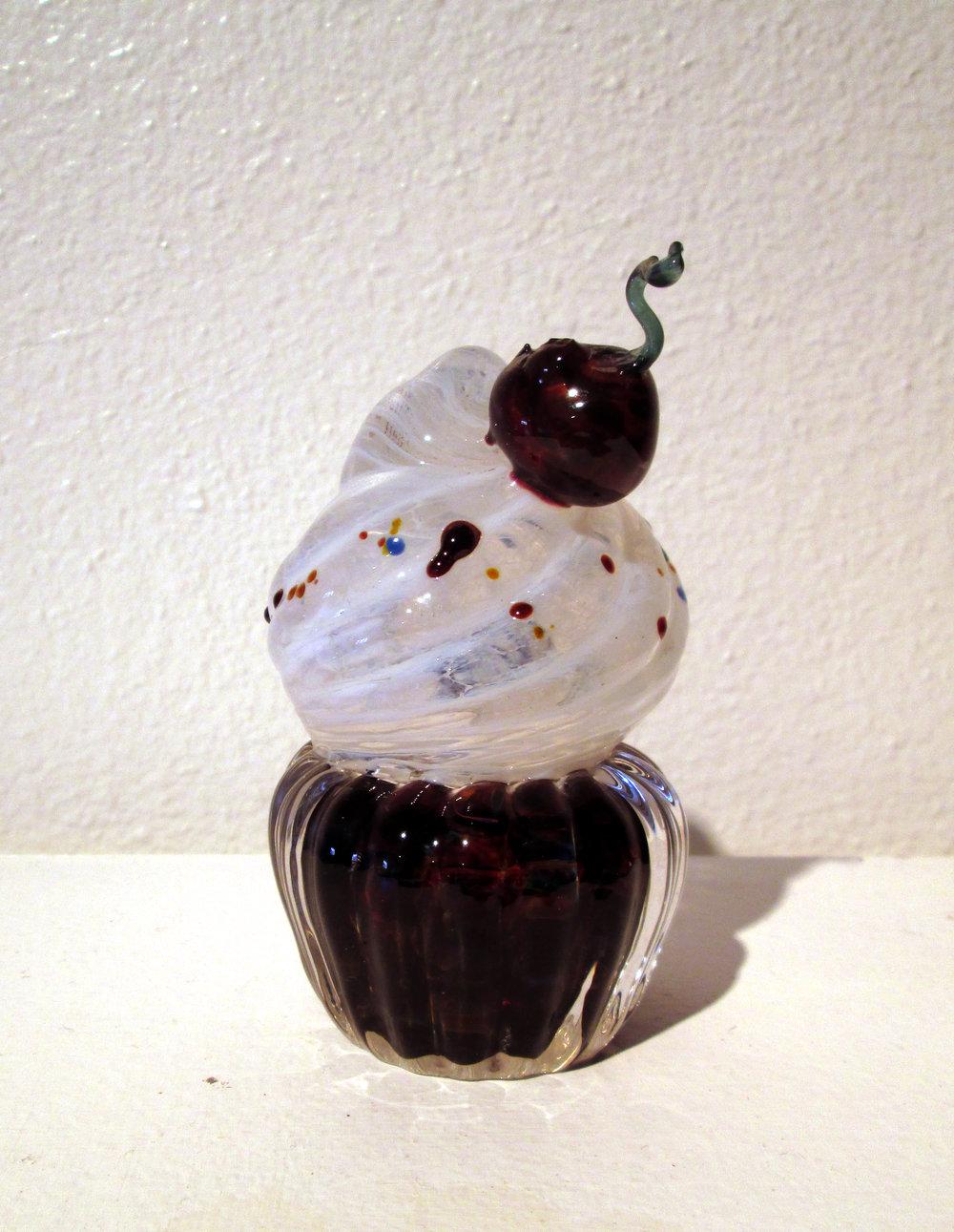 Hot sculpted cupcake.