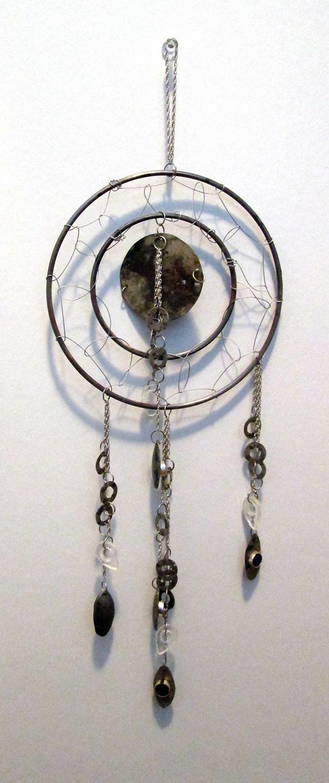 Silver, sunstone, aluminum, glass, firescaling