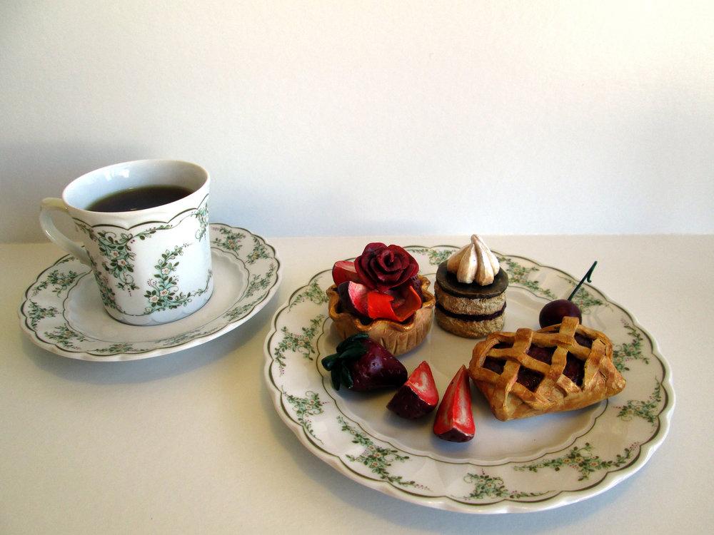 Polymer clay and Bavarian tea set