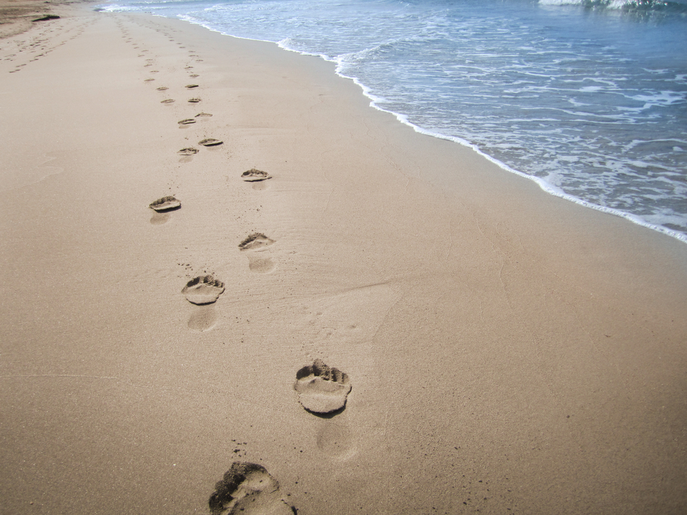 Somatic EMDR: footprints in sand