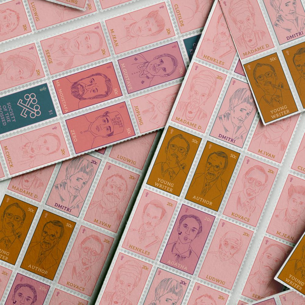 Grand Budapest Hotel Stamp Set, 2016.