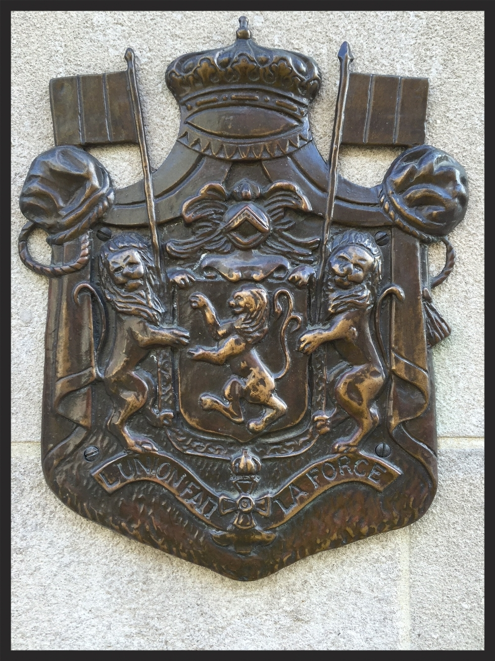 Bulgarian Coat-of-Arms outside of the Mayflower Hotel, Washington, DC