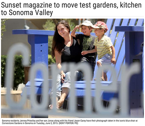 Sunset magazine to move test gardens, kitchen to Sonoma Valley