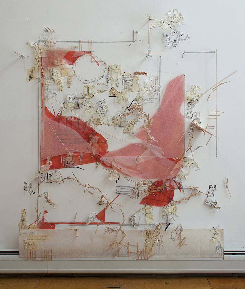 Roya Amigh,  Collision Response , 2015, mixed media, 66 x 59 x 18 in  © Roya Amigh 2015. Courtesy of the artist  CONTACT FOR PRICE