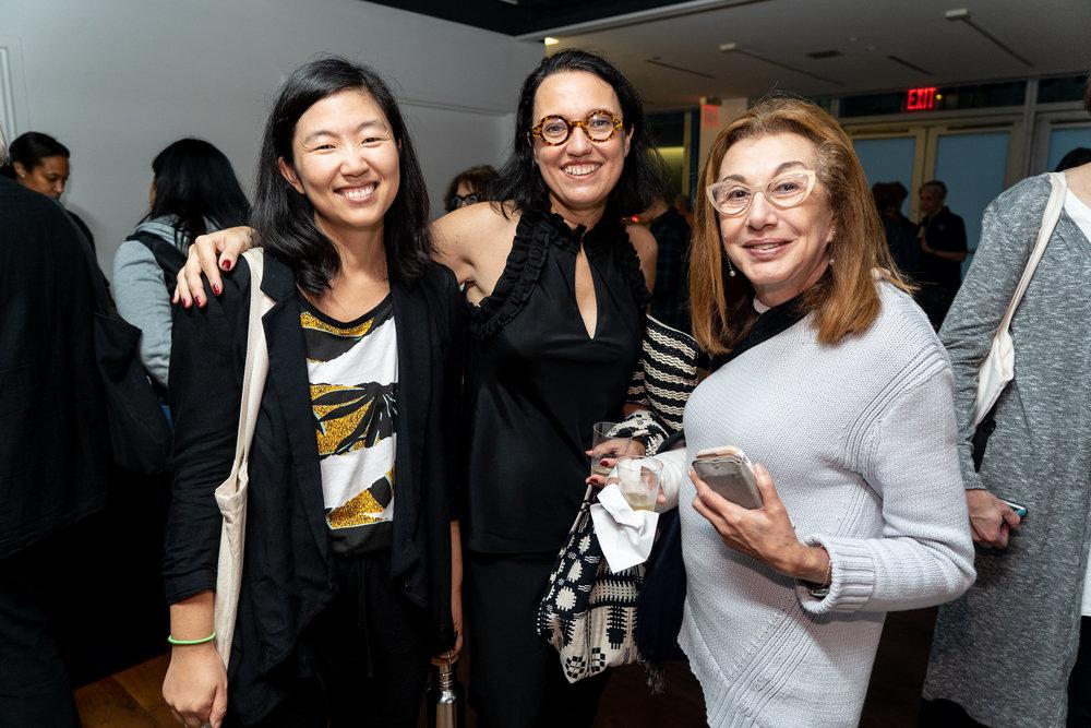 Bang Geul Han, Monika Fabijanska, Paulina Rogawski. The Un-Heroic-Act opening. Photo Austin Pogrob